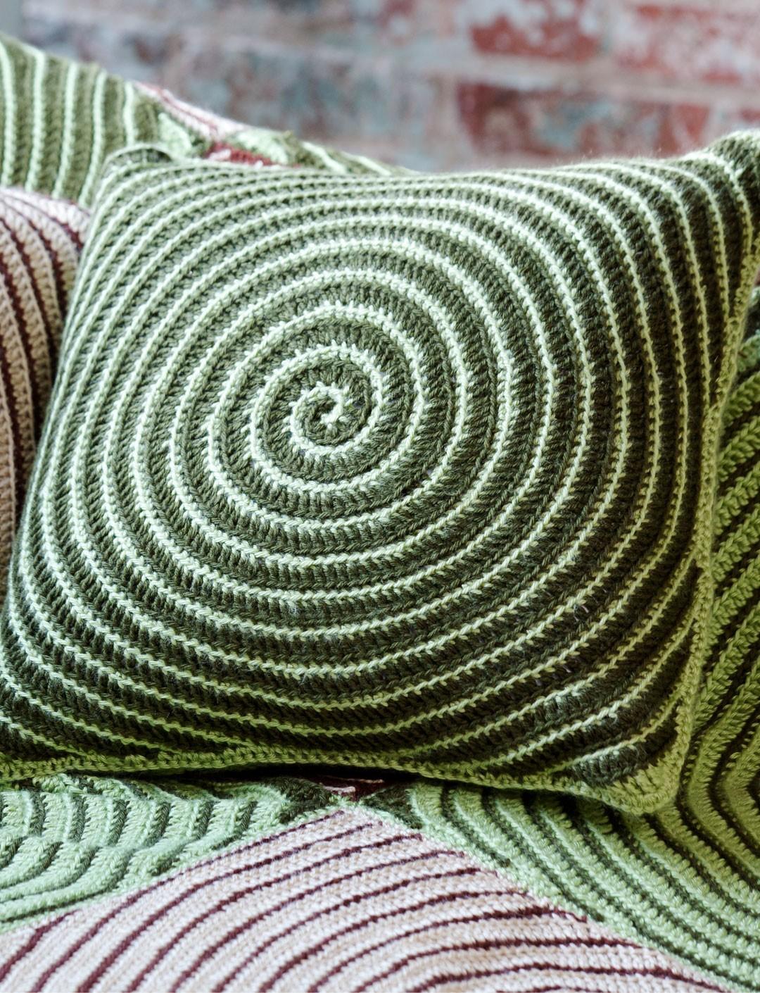 Vortex Afghan Amp Pillows Knit1knitall