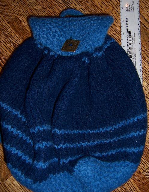 Backpack Knitting Pattern : Beginner Backpack knit1knitall