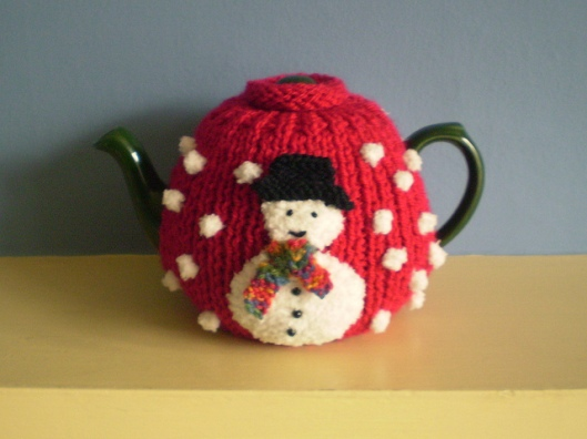 Double Sided Christmas Tree and Snowman Tea Cosy2