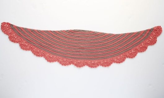 Chic and Strong Crescent Shawl