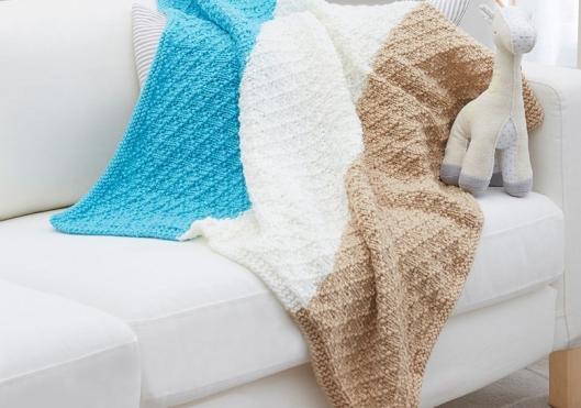 Diamonds for Baby Knit Blanket