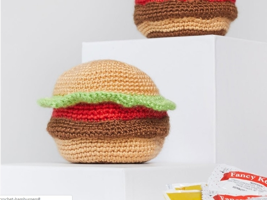 Tasty Crochet Hamburgers